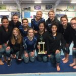 Gymnastics Team wins 3rd straight East-West Invite