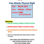 Free Sports Physicals for 2019-2020