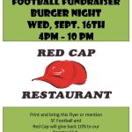 Burger Night at Red Cap – Sept 16