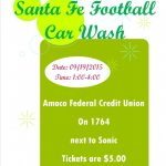 Football Booster Car Wash – Sept 19