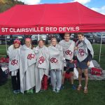 St. Clairsville High School Girls Varsity Cross Country finishes 3rd place