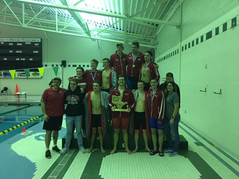 Boys Varsity Swimming finishes 1st place at (OVAC @ Brooke)