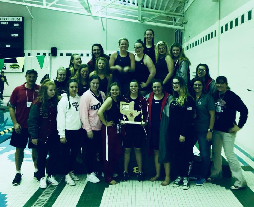 Girls Varsity Swimming finishes 1st place at (OVAC @ Brooke)