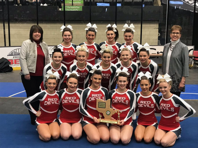 St.Clairsville Cheerleaders Capture 12th  OVAC Title
