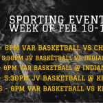 Sporting Events for Week of Feb 10-14
