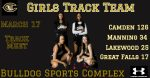 Girls Track Team Results 3/17/21