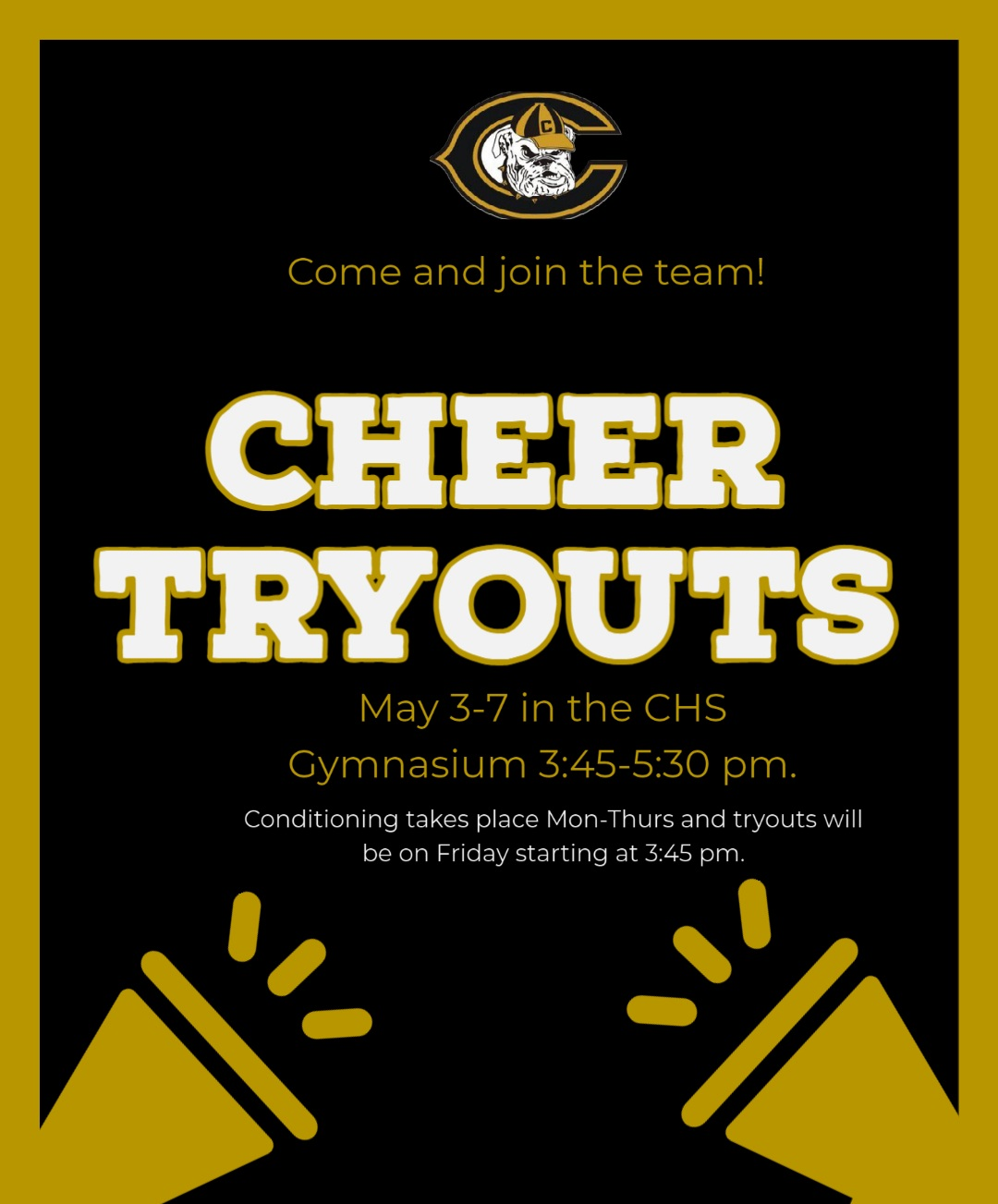 CHS Cheer Tryouts