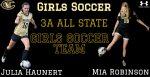 Robinson & Haunert named to Girls State Soccer Team