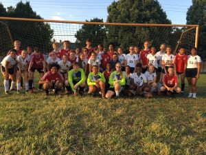 Boys and Girls soccer teams come together for end of season scrimmage