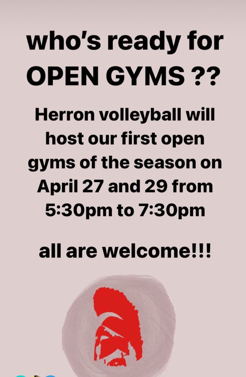 Girls Volleyball Spring Open Gyms