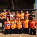 Monticello Softball supporting distracted driving awareness month.