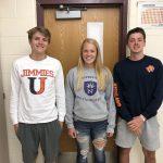 Three Magic students recognized for pursuing athletics in future!