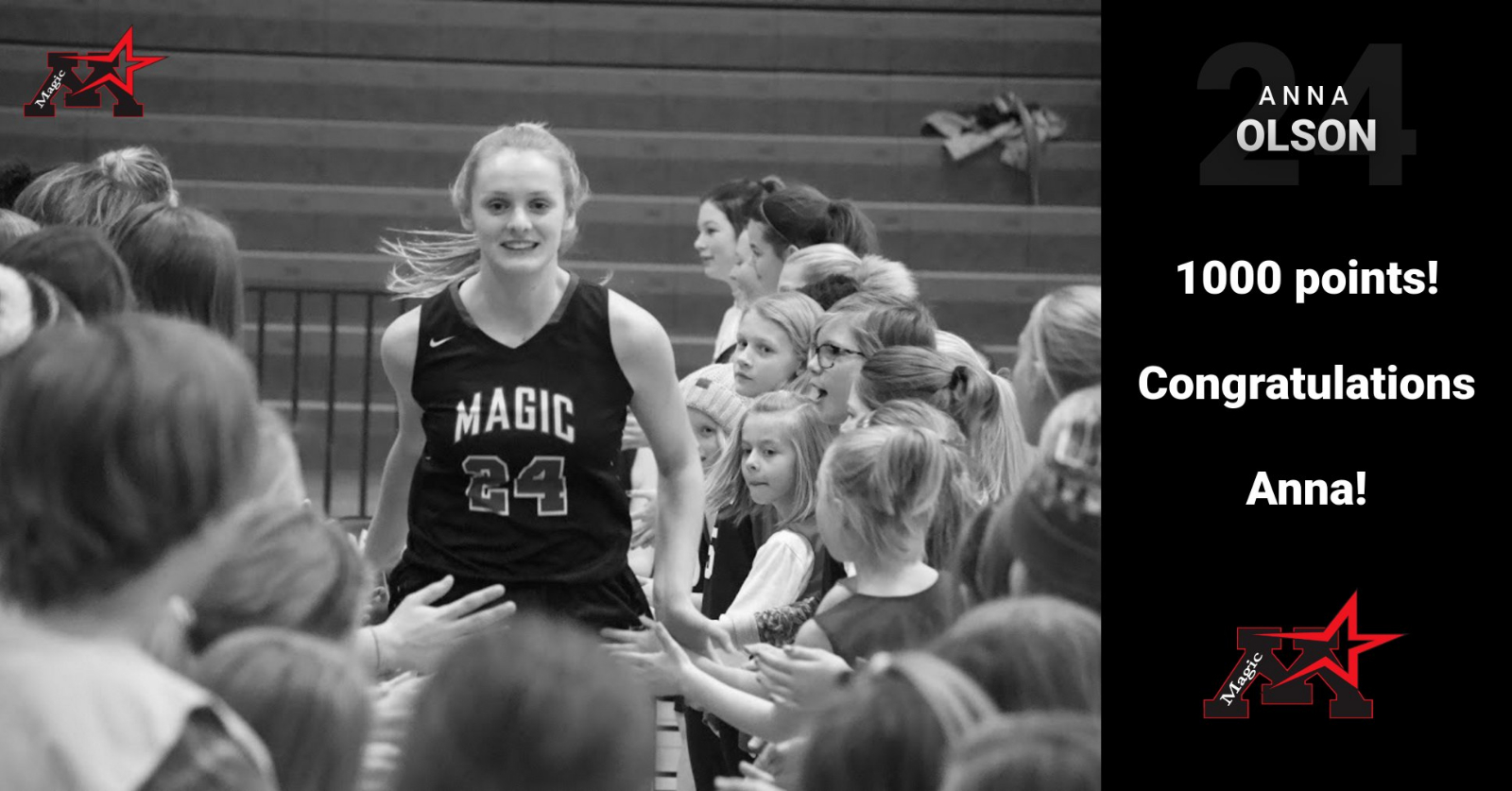 Anna Olson notches 1000th career point, becoming second youngest to reach scoring milestone in program history!