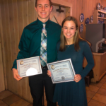"Ava Emmerich and Garrett Holmes honored as MHS nominees for Triple ""A"" Award"