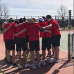 Boys Tennis with huge win in last conference meet vs. Knights!