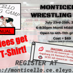 2019 Monticello Summer Wrestling Camp Information!