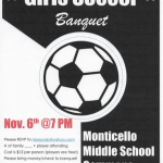 Girls Soccer Banquet Information!