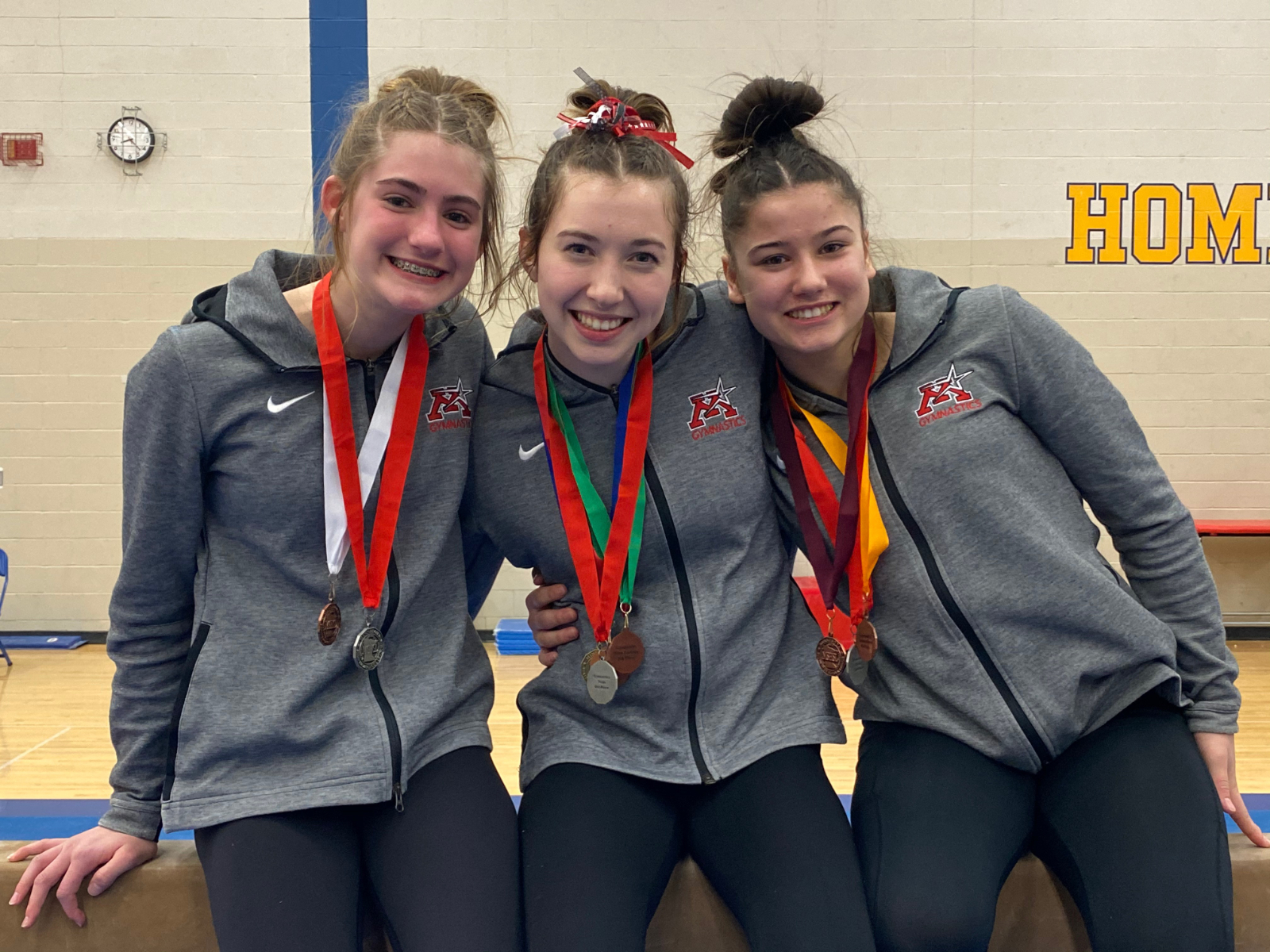 Anderson, Bryant and Lemke compete at MSHSL State Gymnastics Meet!