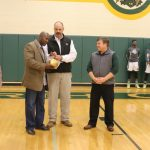 Tyronne Drakeford Presents NCHS with Golden Football
