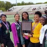 Bedford High School Girls Varsity Track finishes 1st place