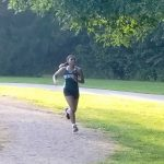 Kaylyn Collins competes for Bedford Cross Country at 49th Annual George Cross Invite!