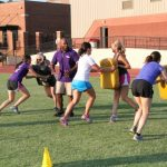 Womens' Football Clinic Supports Curing Kids Cancer
