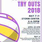2018 Volleyball Tryouts – May 7th-May 11th