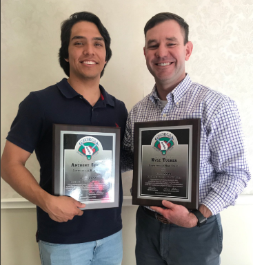 Hurricanes Baseball Coach Tucker and Anthony Seigler name Coach/Player of the Year