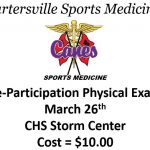 2019-2020 Pre-Participation Physicals on March 26