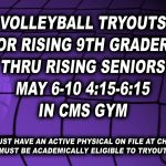Volleyball Tryouts for 2019 Season