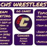 Pre-season Wrestling Team Meeting on 8-28-19