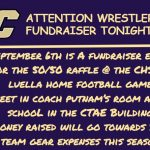 Fundraising Opportunity for CHS Wrestlers: 50/50 Raffle @ CHS vs. Luella Football Game 9-6-2019