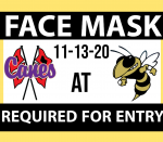 REMINDER: FACE MASK REQUIRED