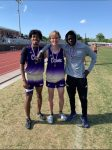 One…Two…Three!!!  Congratulations to our Boys 300M Hurdlers!!!