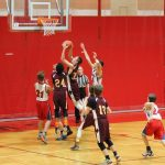 Jimtown Boys 8th Grade Basketball beat Virgil I Grissom Middle School 32-23