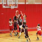 Jimtown Boys 8th Grade Basketball beat Virgil I Grissom Middle School 32-23