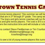 Jimtown Boys and Girls Tennis Camp