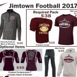 Jimtown Football Gear (must order before June 1st)