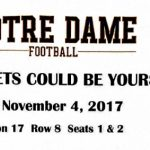 JHS Students can win Notre Dame Football Tickets