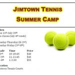 Jimtown Tennis Camp Opportnity