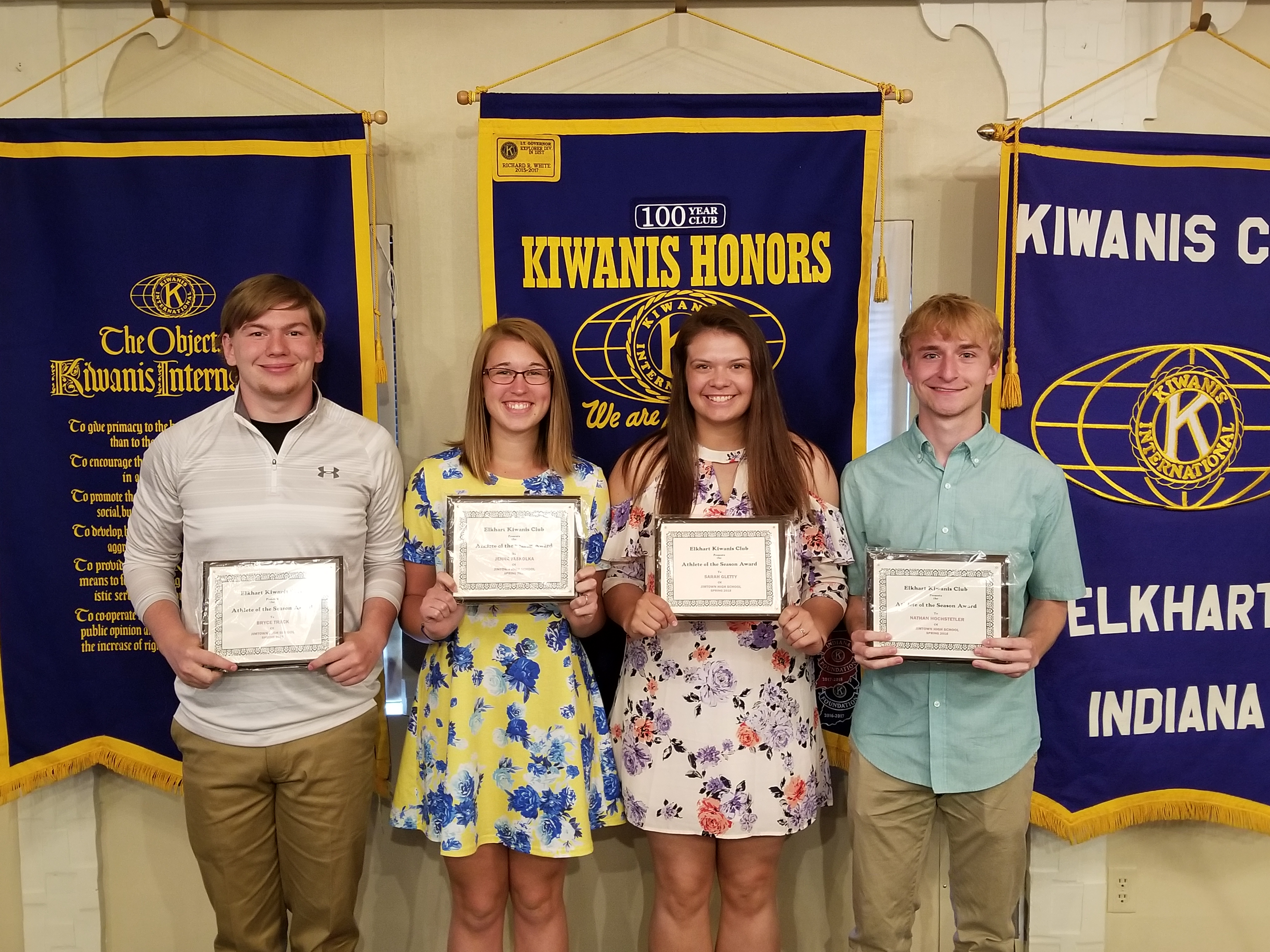 Elkhart Kiwanis Honors Spring Athletes + Jimtown Tennis Standout Heads to St. Mary's