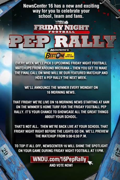 Vote for Jimtown to Host a WNDU Pep Rally Next Friday!!