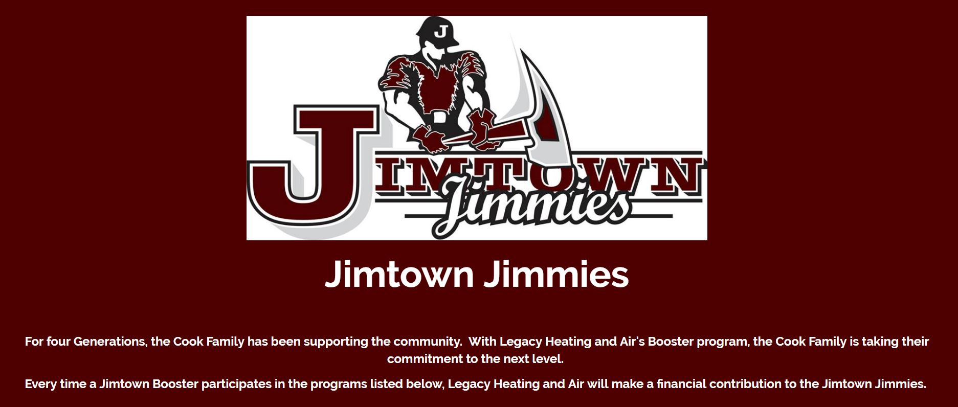 Legacy Heating and Air Helping the Jimmies Continue a Legacy of Awesomeness