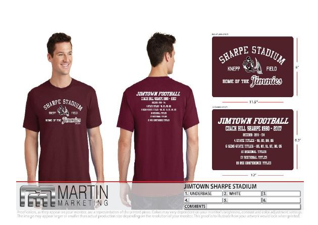 """Order your """"Sharpe Stadium"""" shirt now (to have it for Dedication Night)"""