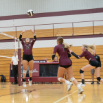 Girls Volleyball battle Fairfield but fall short