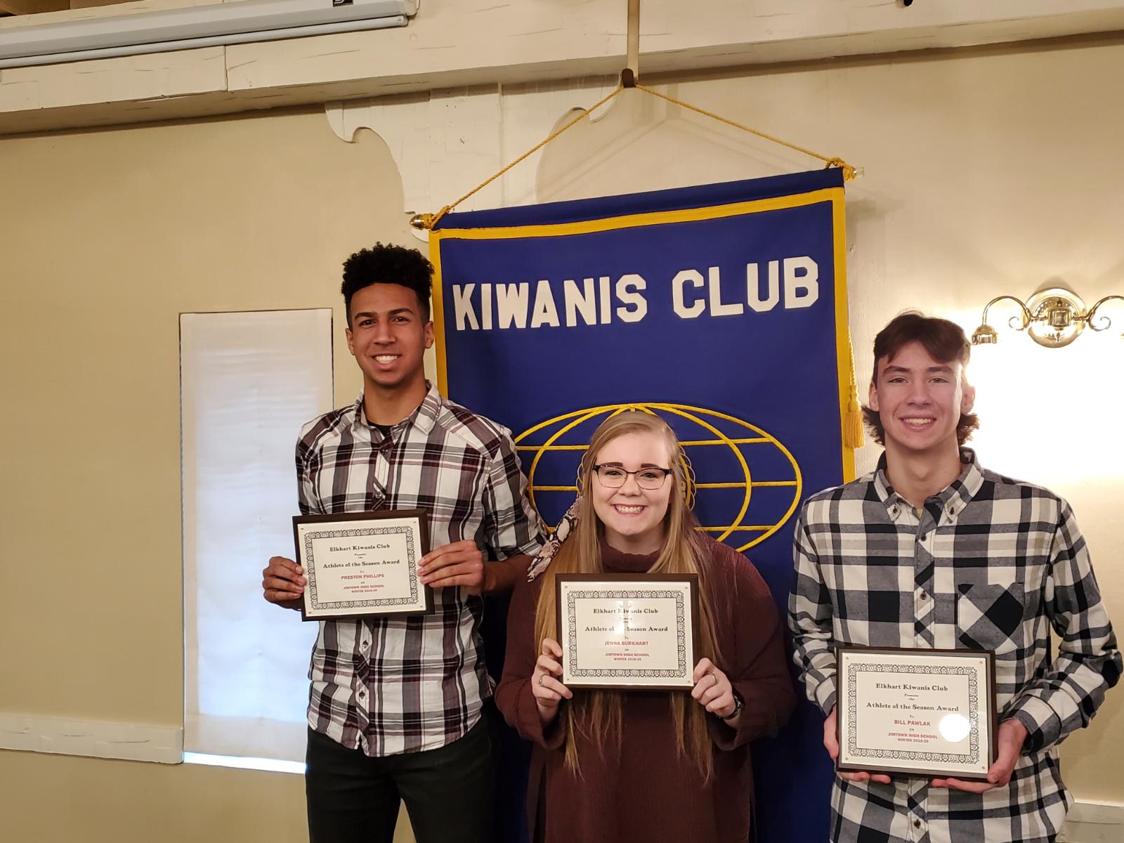 Kiwanis Club Winter Honorees