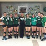 Derby High School Girls Varsity Volleyball beat Campus 2-0