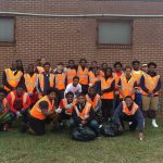 Rebel Football Players Participate in SCHSL Living Clean Litter Clean Up!