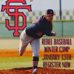 Register for Rebel Baseball Winter Camp January 13th!