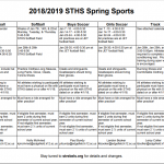 Spring Sports Workouts and Tryouts To Begin In January!